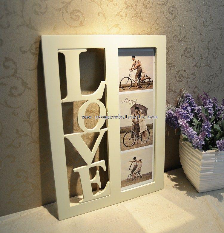 Рамки для фотографий на стену из дерева фото